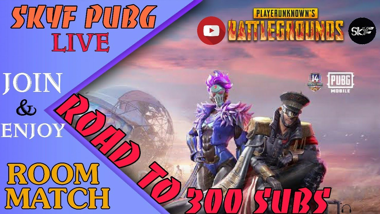 ROAD TO 300 SUBSCRIBERS I 🔴 LIVE ROOM MATCH 🔴| PUBG MOBILE