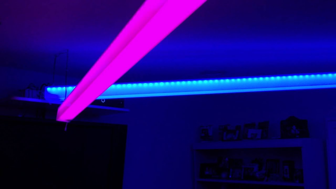 Led Strip Lights in Plexiglass at Coralu0027s Room - YouTube