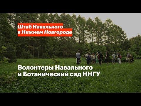 Волонтеры Навального и Ботанический сад ННГУ