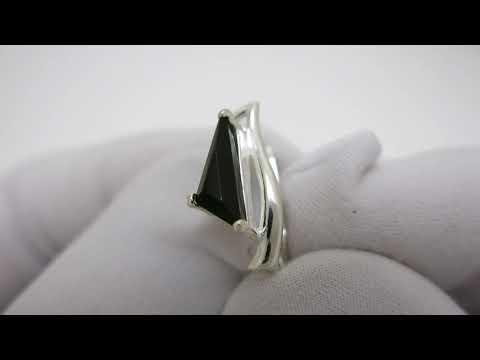 Серебряные серьги с ониксом 2477-он.н