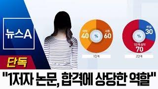 """[단독]""""조국 딸 고려대 합격에 고교생 의학 논문 비중…"""
