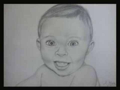 Retrato a Lpiz Mi Bebe  Portrait in pencil  YouTube
