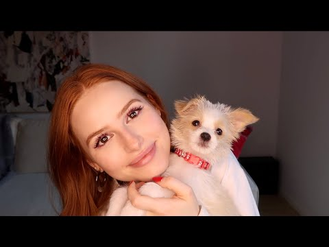 "So Cute! Madelaine Petsch's New Puppy Is ""Like a Ferocious Little Cotton Ball"""