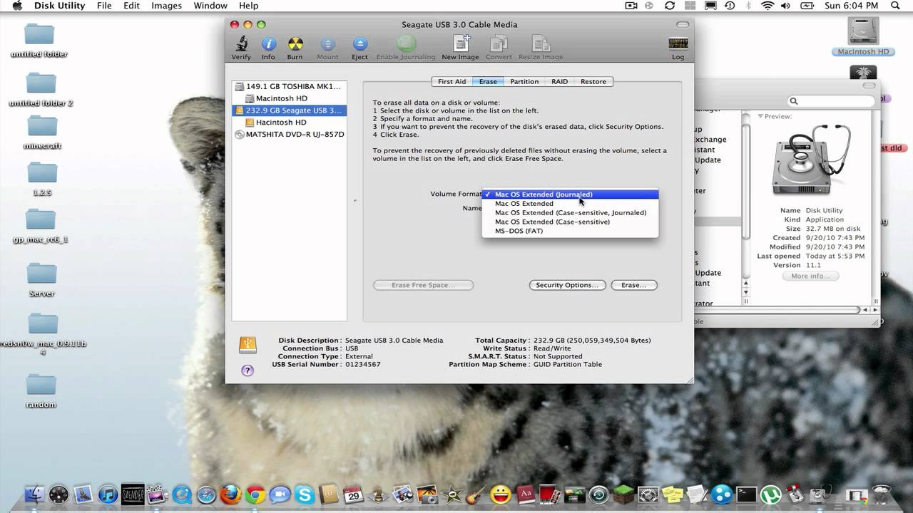External hard drive backup mac