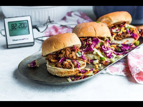 Asian Pulled Pork Sliders with Cabbage Slaw | ThermoPro Recipes