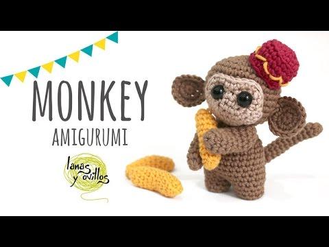 Little Monkey Amigurumi Monkey Crochet Keychain Charm Kawaii ... | 360x480