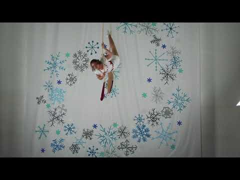 Winter Folktales Showcase -Jennifer as Nutcracker Ballerina on Trapeze