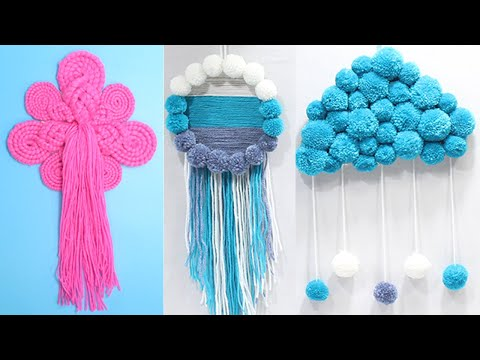 5 Wool craft wall hanging easy | New design woolen wall hanging 2019