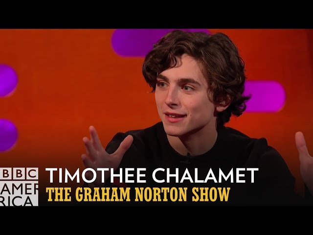 Timothée Chalamet Never Stopped Making Out With Armie Hammer | The Graham Norton Show | BBC America