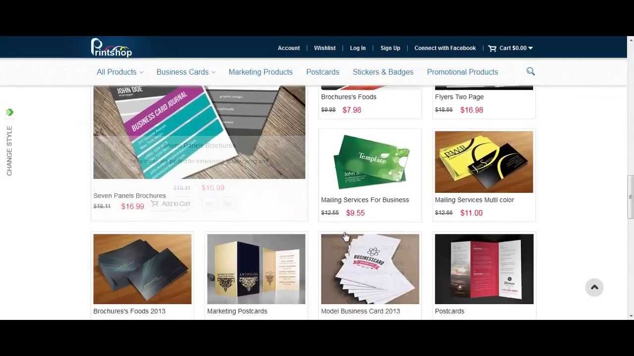 Magento Print Shop Theme Version 2.0 - YouTube