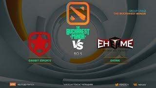 Финал RU Gambit Vs EHOME  Bo5  The Bucharest Minor By Tekcac