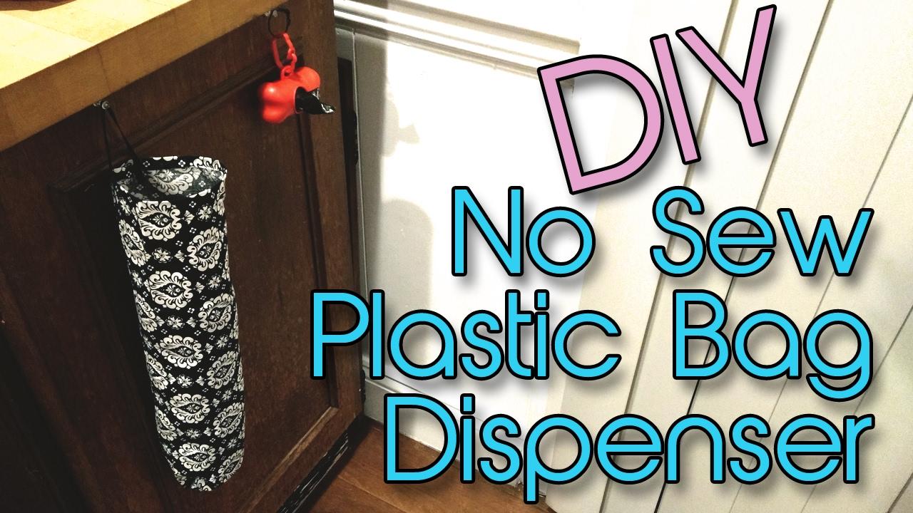 Plastic Bag Dispenser No Sew Diy Creation In Between