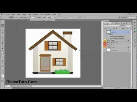 Dessiner une icône maison avec Photoshop || Tutoriel Photoshop