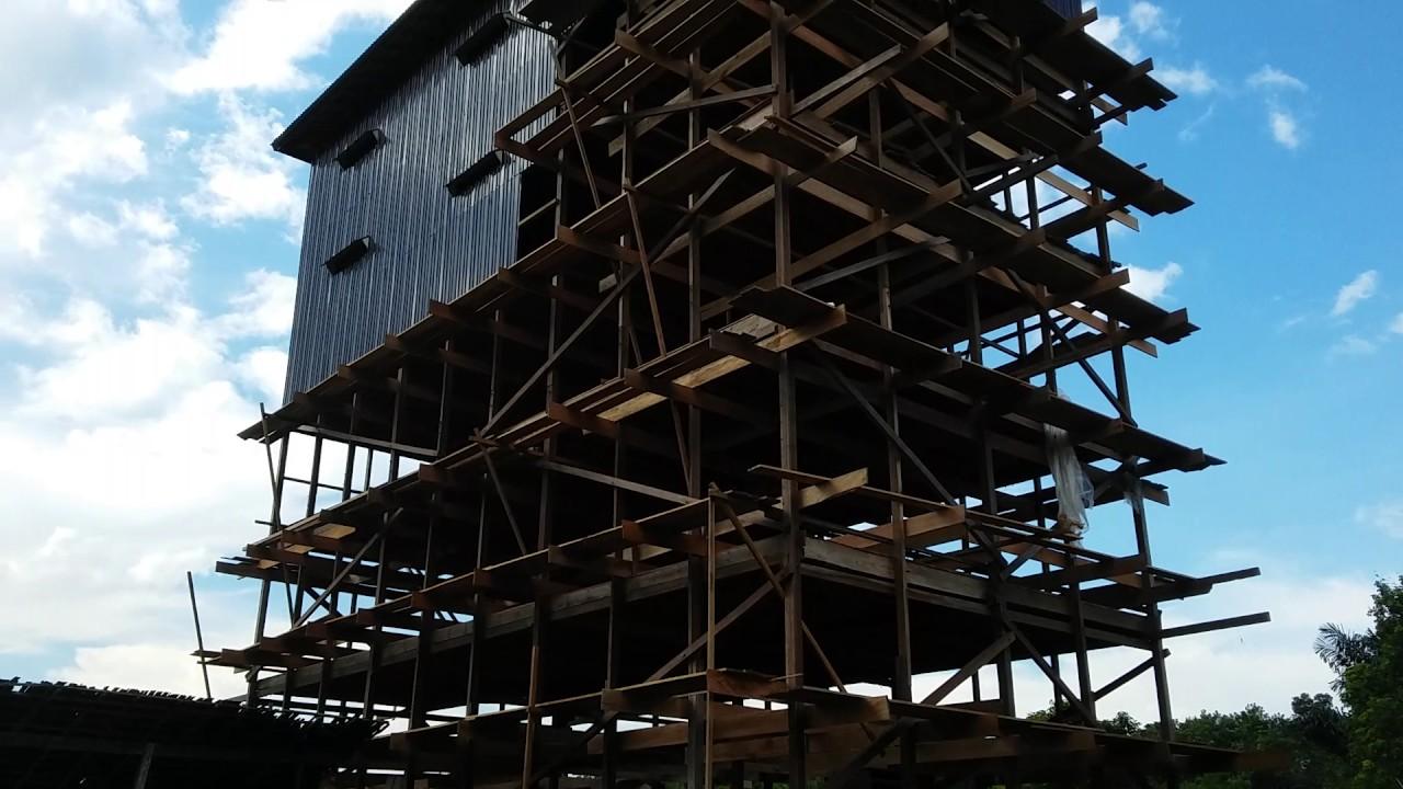 bangunan walet kerangka dari bahan kayu kalimantan