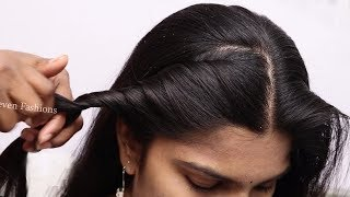 Indian traditional hairstyle for long hair girls | Simple Hairstyles for beginners | hair style girl