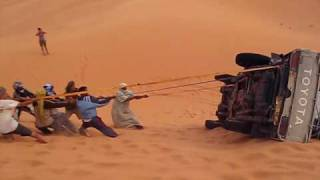 Algérie avril 2010 : Un 4X4 bascule