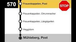 PostAuto Ansagen - 570 Bern Brünnen Westside, Bahnhof - Mühleberg, Post