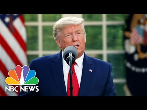 Watch: Trump And Coronavirus Task Force Hold Briefing At White House | NBC News