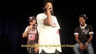 DC Young Chico Bean Vs. Karlous Miller Old School Cougar Freestyle In Baltimore