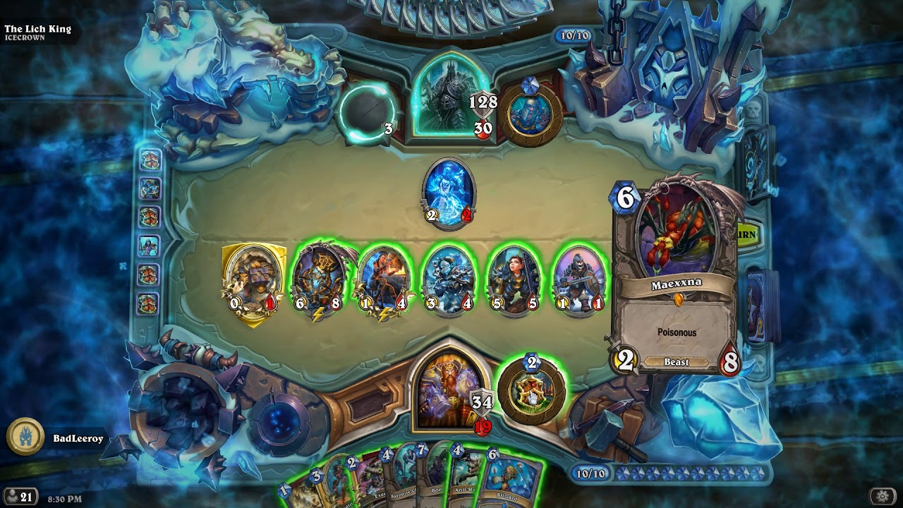 Hearthstone Warrior Exploit against the Lich King (And surprise Priest card)