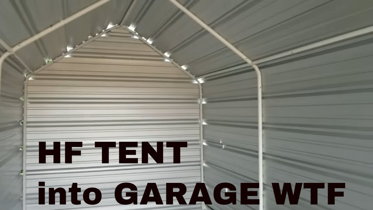 How to turn Harbor freight tools portable Garage into ...