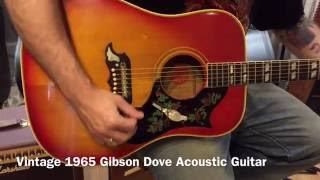 Vintage 1965 Gibson Dove Square Shoulder Dreadnought Acoustic Guitar