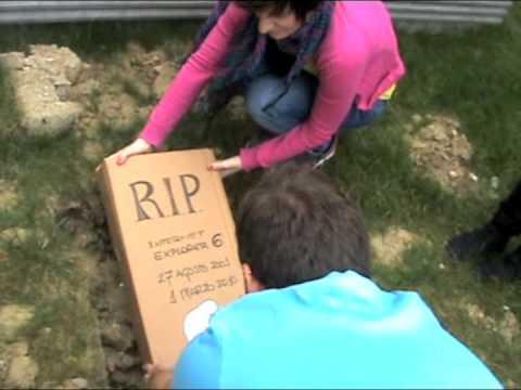 Funeral de Internet Explorer 6 en Biko