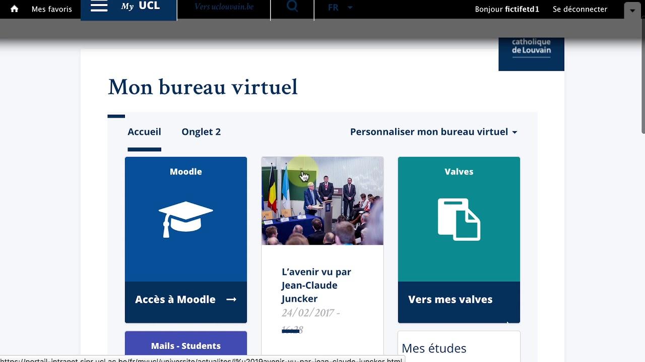 Acces Au Bureau Virtuel My Ucl Uclouvain