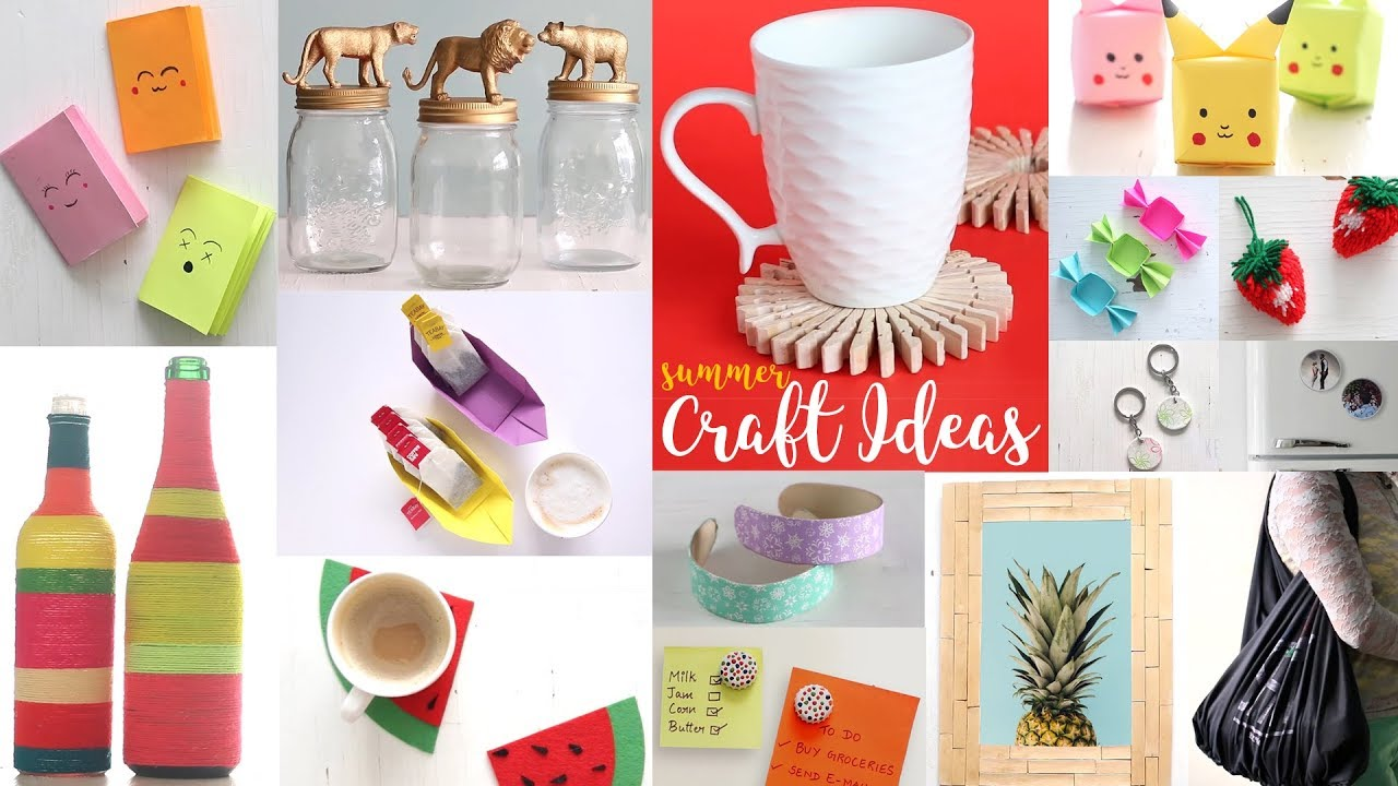 22 Cool Summer Craft Ideas Diy Projects For Summer Handcraft Youtube