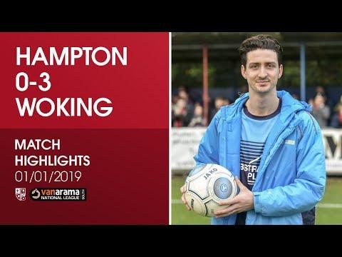 Hampton & Richmond Borough 0 - 3 Woking   Match Highlights