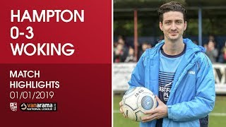 Hampton & Richmond Borough 0 - 3 Woking | Match Highlights