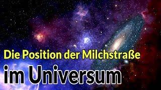 Die Position der Milchstraße im Universum