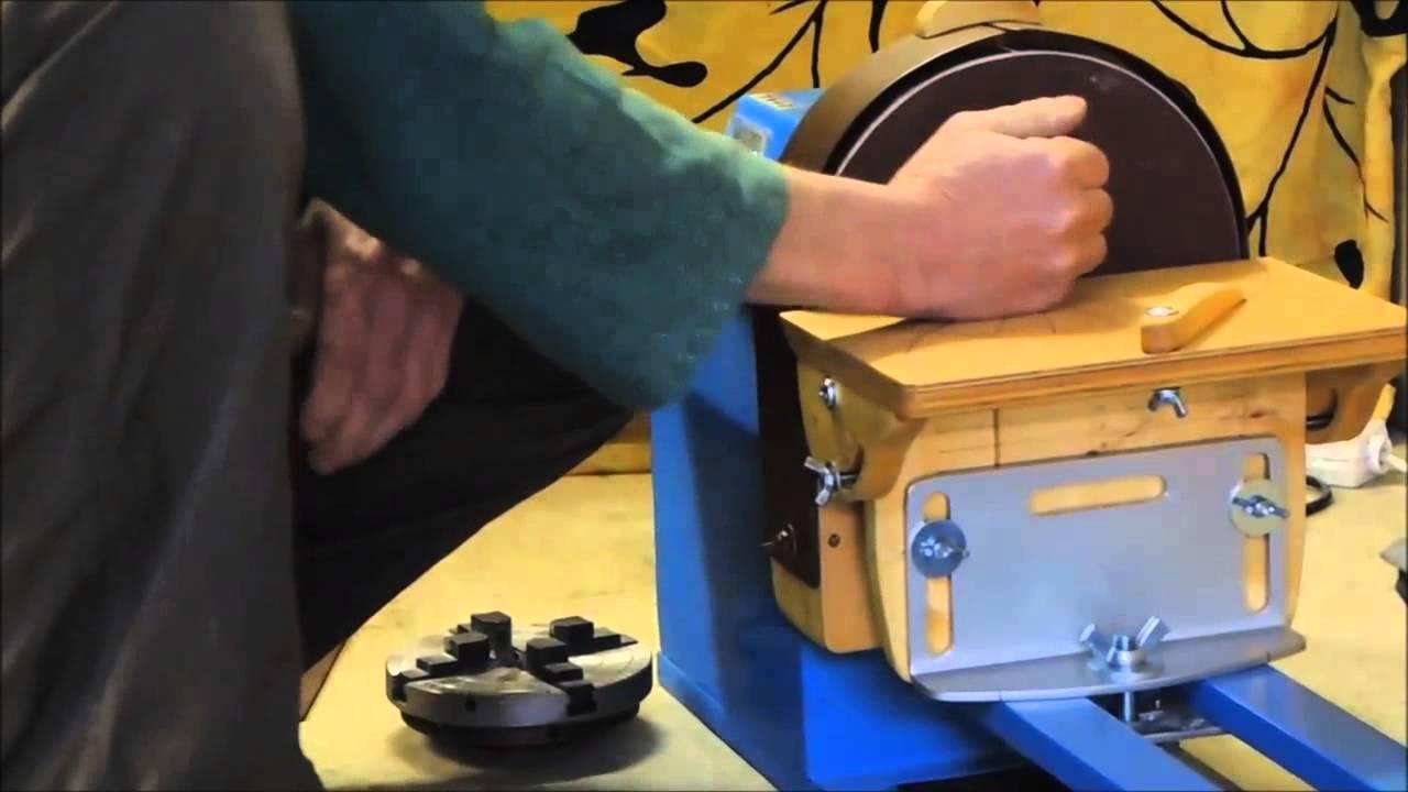 DIY Disc Sander On Lathe YouTube