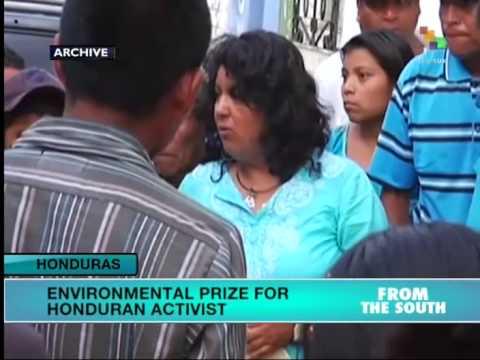 Honduras Activist Wins Int'l Environmental Award