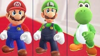 All Endings in Super Mario Odyssey (Mario, Luigi & Yoshi)