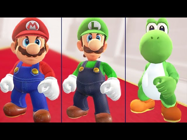 All Endings in Super Mario Odyssey (Mario, Luigi & Yoshi)
