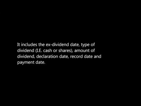 All About Dividends Part 3: What is a declaration date?