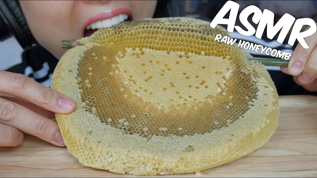 Asmr Eating Playing With Raw Honeycomb Extremely Sticky Relaxing Sound No Talking Sas Asmr 5