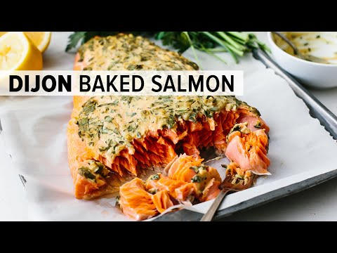 DIJON BAKED SALMON | My Favorite Easy Salmon Recipe