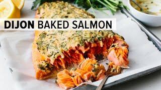 DIJON BAKED SALMON | my favorite easy salmon recipe