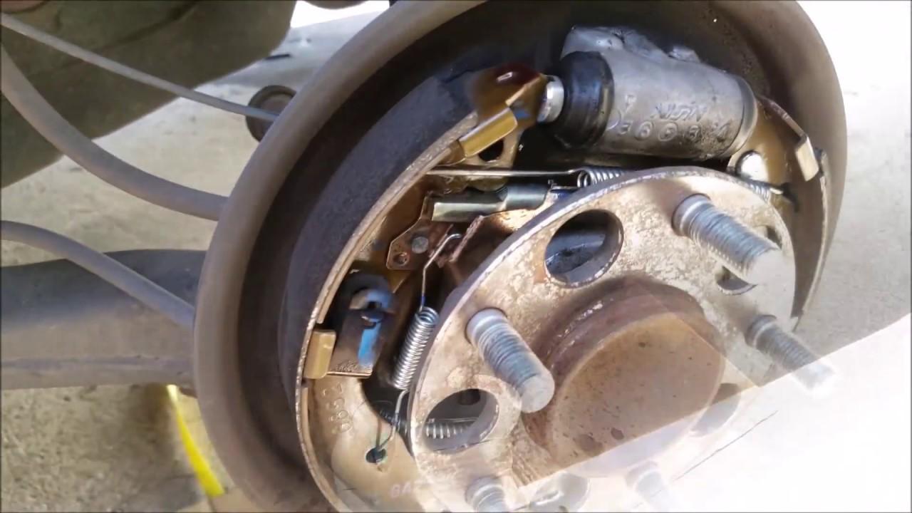 How To Change Rear Drum Brakes Honda Civic 2006 2011 Youtube