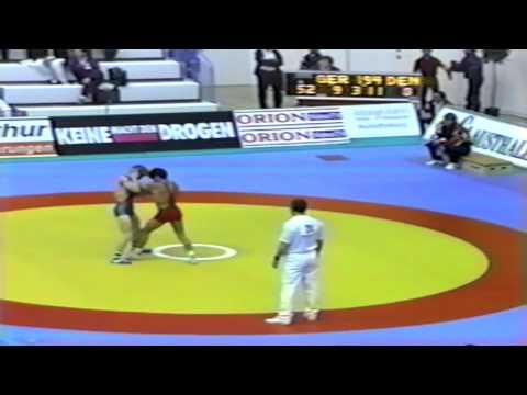 1991 Senior European Greco Championships: 52 kg Rosario Schmitt (GER) vs. Per Nielsen (DEN)