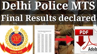 Delhi police MTS final results declared on 2020|