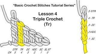 "Learn How To Crochet~Lesson 4 of 6 of My ""Basic Crochet Stitches Tutorial Series"""
