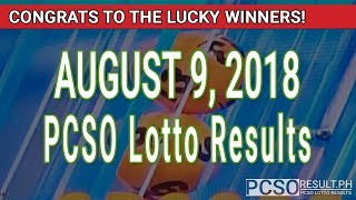 PCSO Lotto Results Today August 9, 2018 (6/49, 6/42, 6D, Swertres, STL & EZ2)