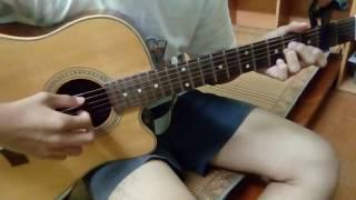 Khánh Phương- Chiếc khăn gió ấm (guitar solo)