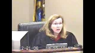 Judge Martha Anderson Hearing for Contempt, JUDGE asks Respondent if she has cash. PAUL NICOLETTI