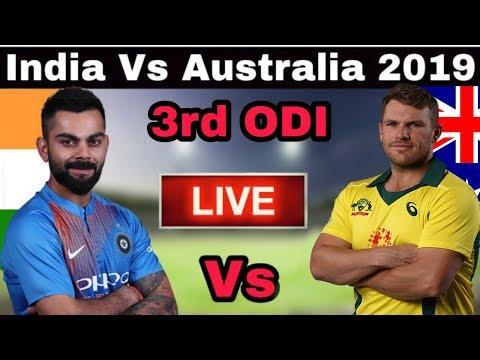 🔴India Vs Australia 3rd ODI Match 2019 Live Streaming