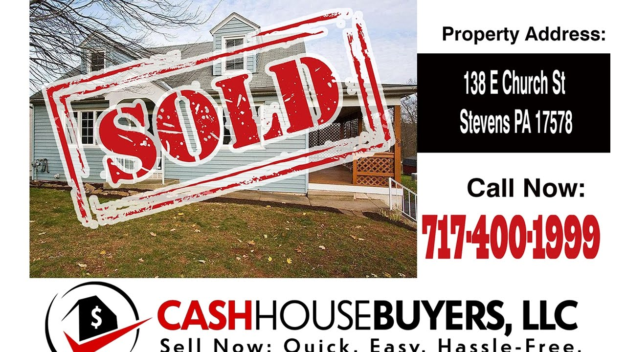 TESTIMONIAL We Buy Houses Stevens PA   CALL 717 400 1999   Sell Your House Fast Stevens PA