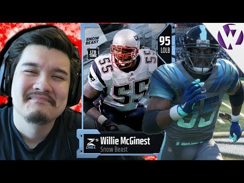 LIMITED EDITION WILLIE MCGINEST ALL OVER THE FIELD - Madden 18 Snow Beast Willie McGinest Gameplay
